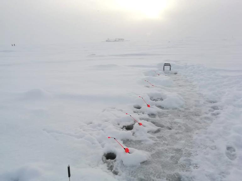 Ловля корюшки зимой на финском заливе