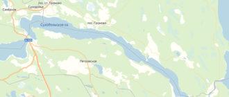 озеро Суходольское на карте